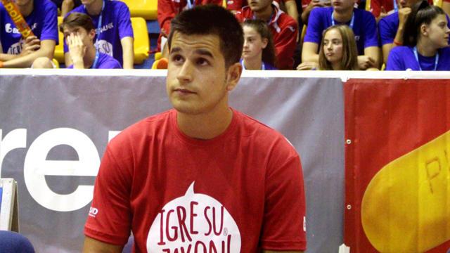Sanin Čampara, igrač KK Real Madrid i učesnik Sportskih igara mladih