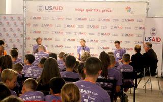"Radionice ""Moja sportska priča"" powered by USAID"
