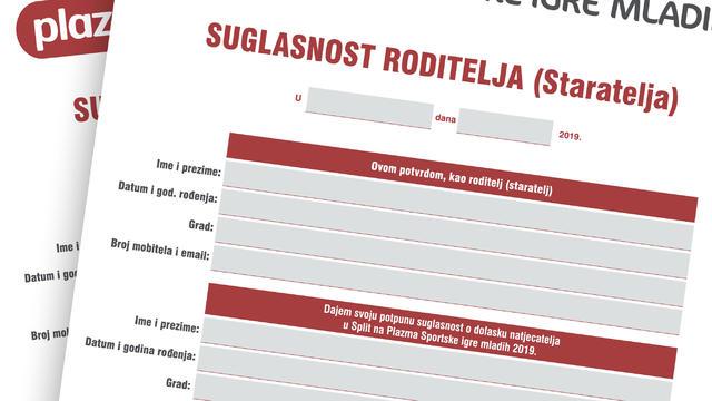 Informacije o Velikom međunarodnom finalu i saglasnost roditelja/staratelja - Split 18.08.- 22.08.2019.